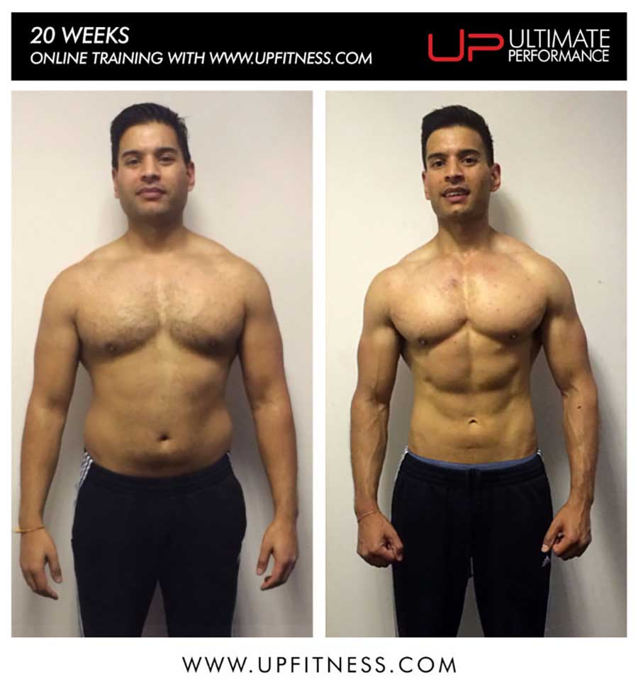 Hetan's 20 Week Online Personal training Result