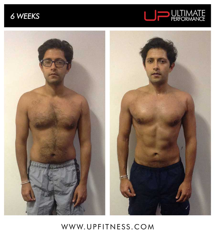 Pratik's 6 week transformation
