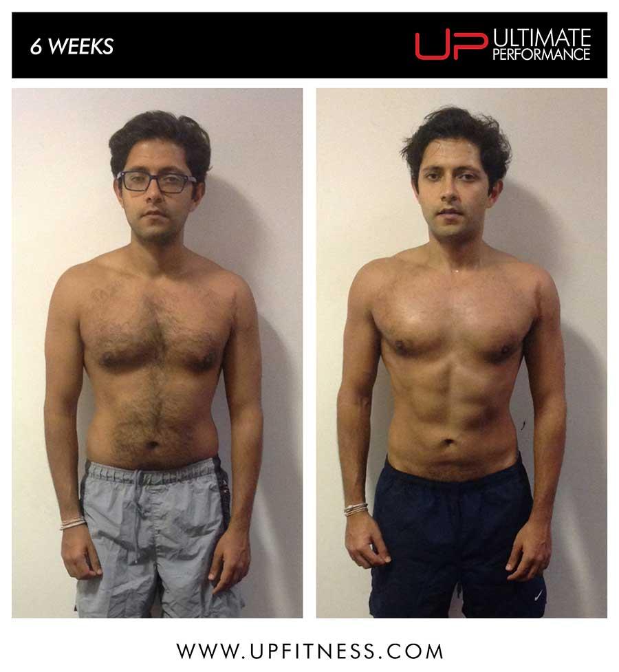 Pratik's 6 week transformation