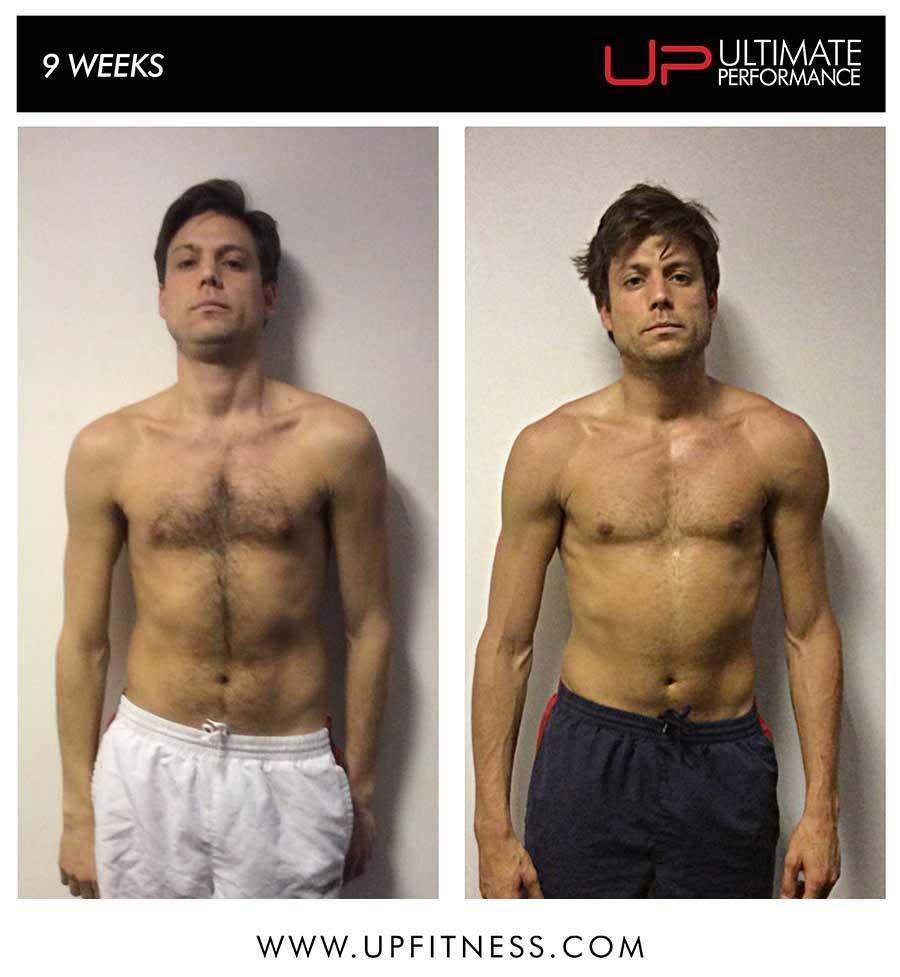 Nick's 9 week transformation