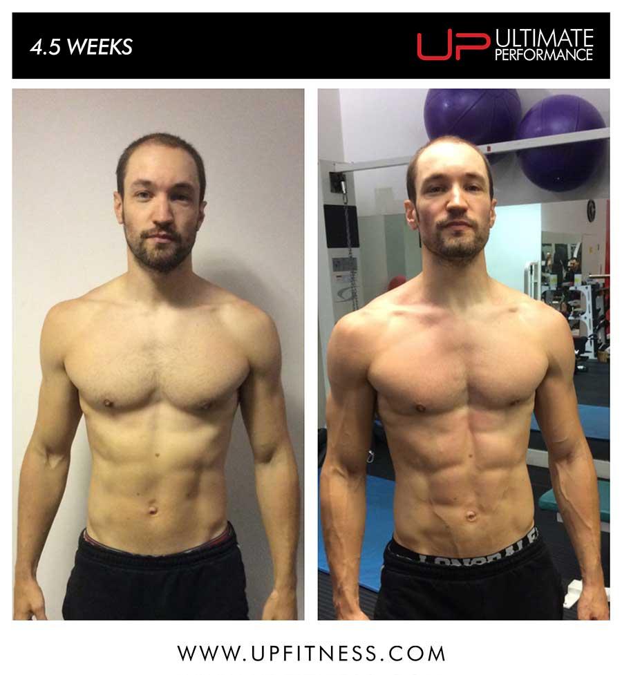Robert's 4.5 week transformation
