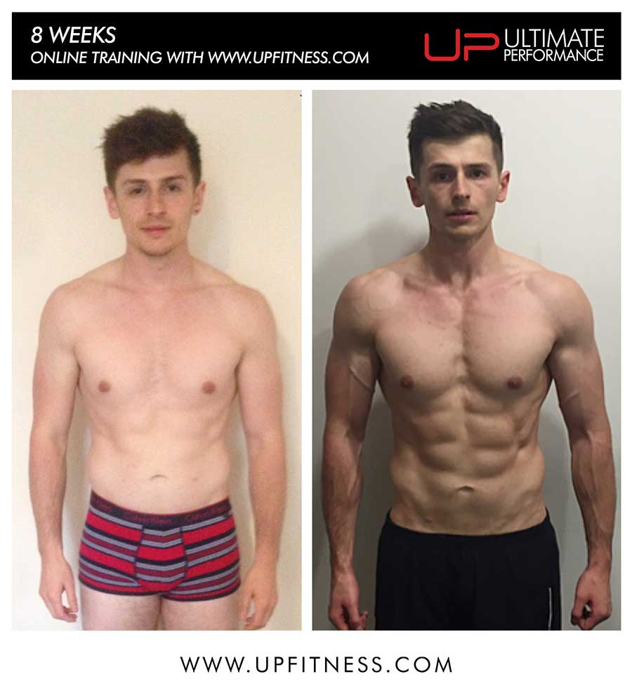 Luke's 8 week transformation on Online Personal training