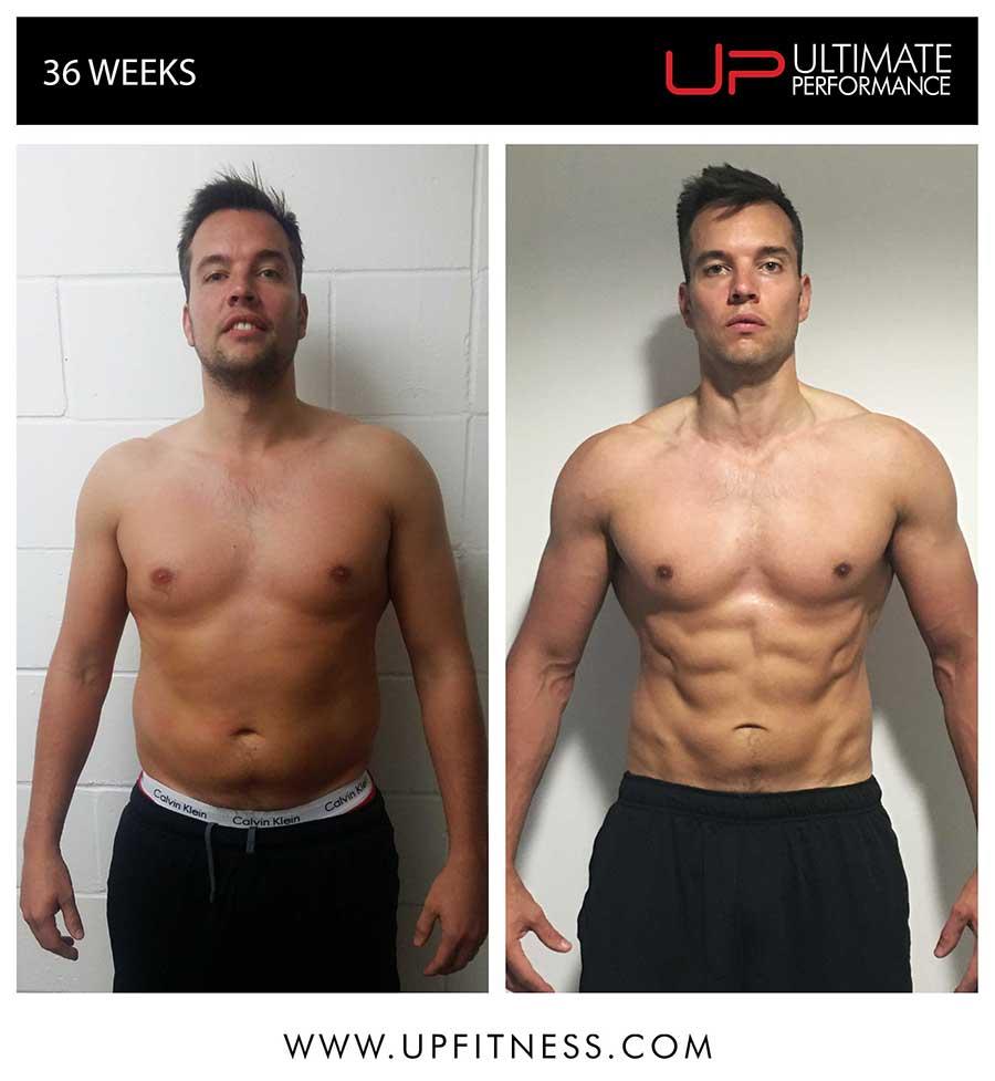 DAvid's 36 week transformation