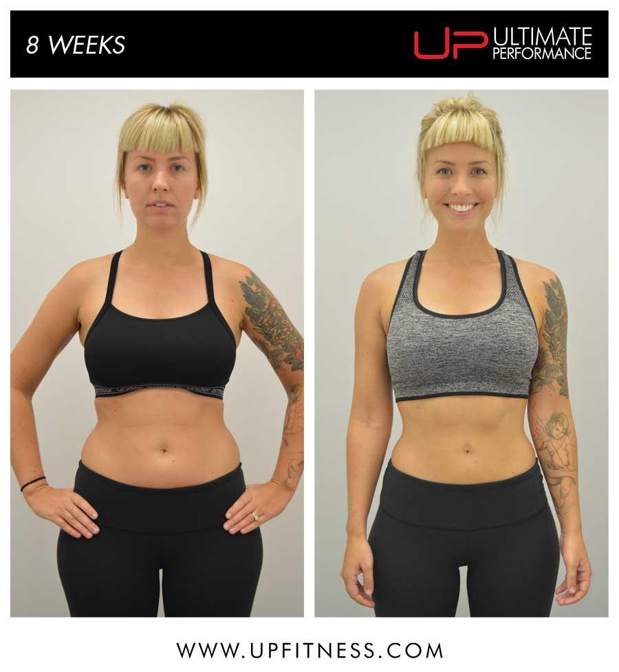 Courtney 8 Week Transformation