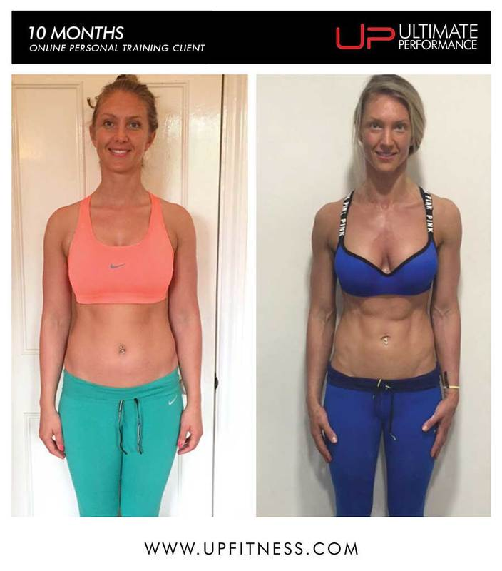 Lisa's 10 Month Online Personal Training transformation