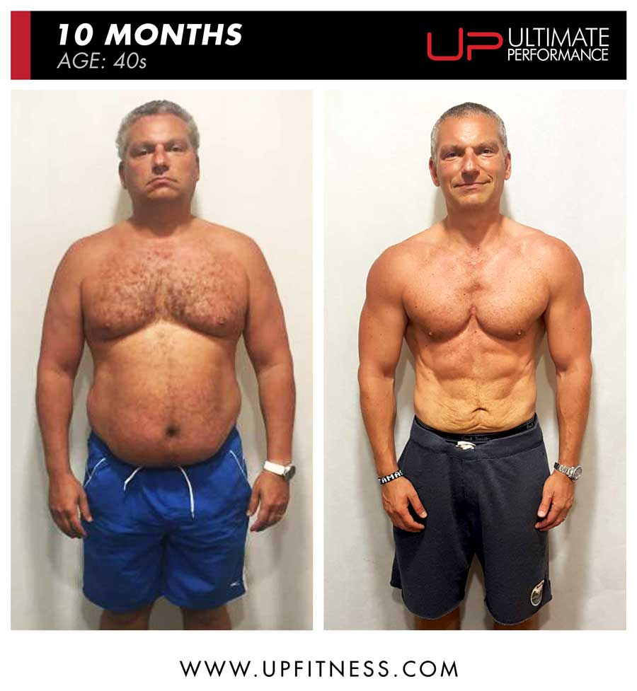 Tamas 10 month fat loss results - front