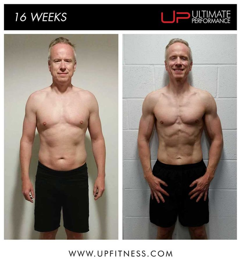 Adrian 16 week fat loss results - front