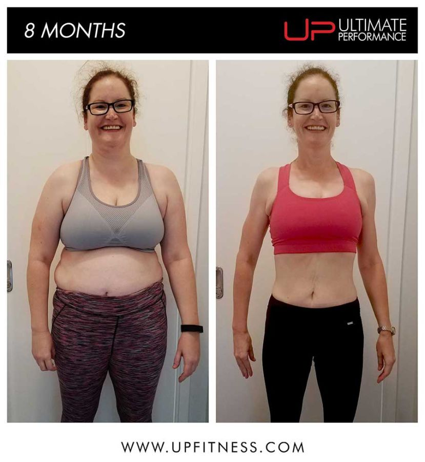 Sarah 8 month results - front