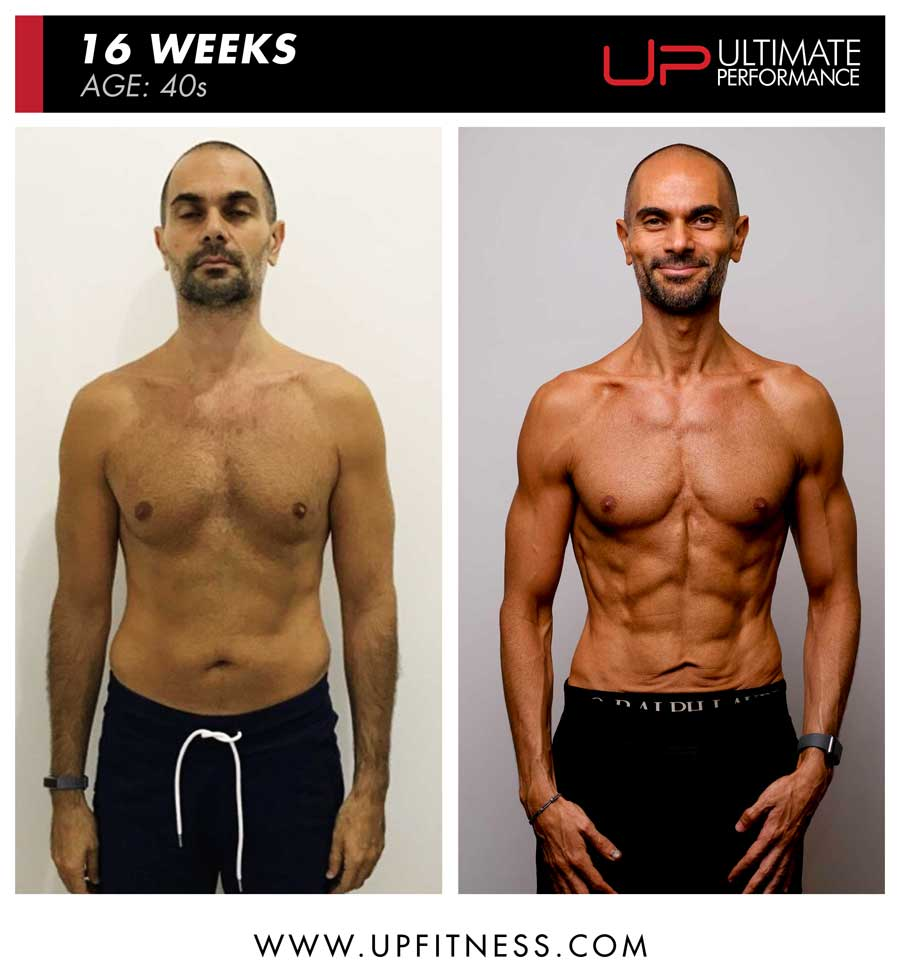 Fadi 16 week transformation results - front