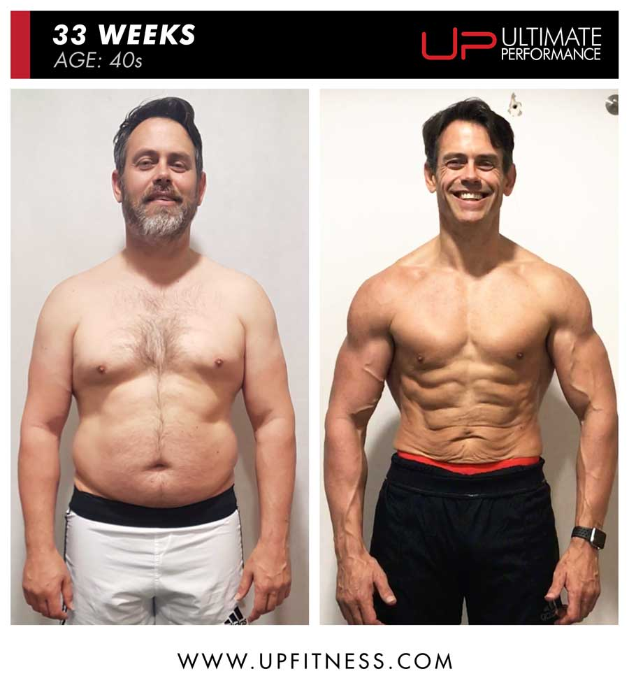 Andy 33 week body transformation results - front