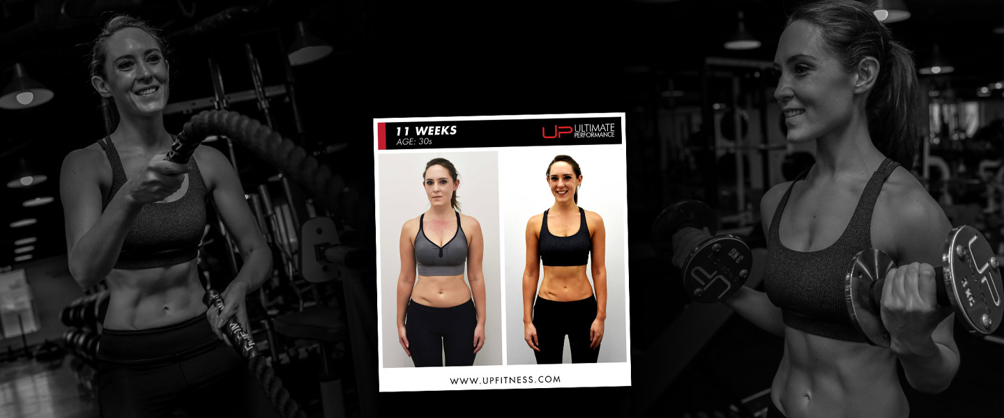 Katie 11 week body transformation results - banner
