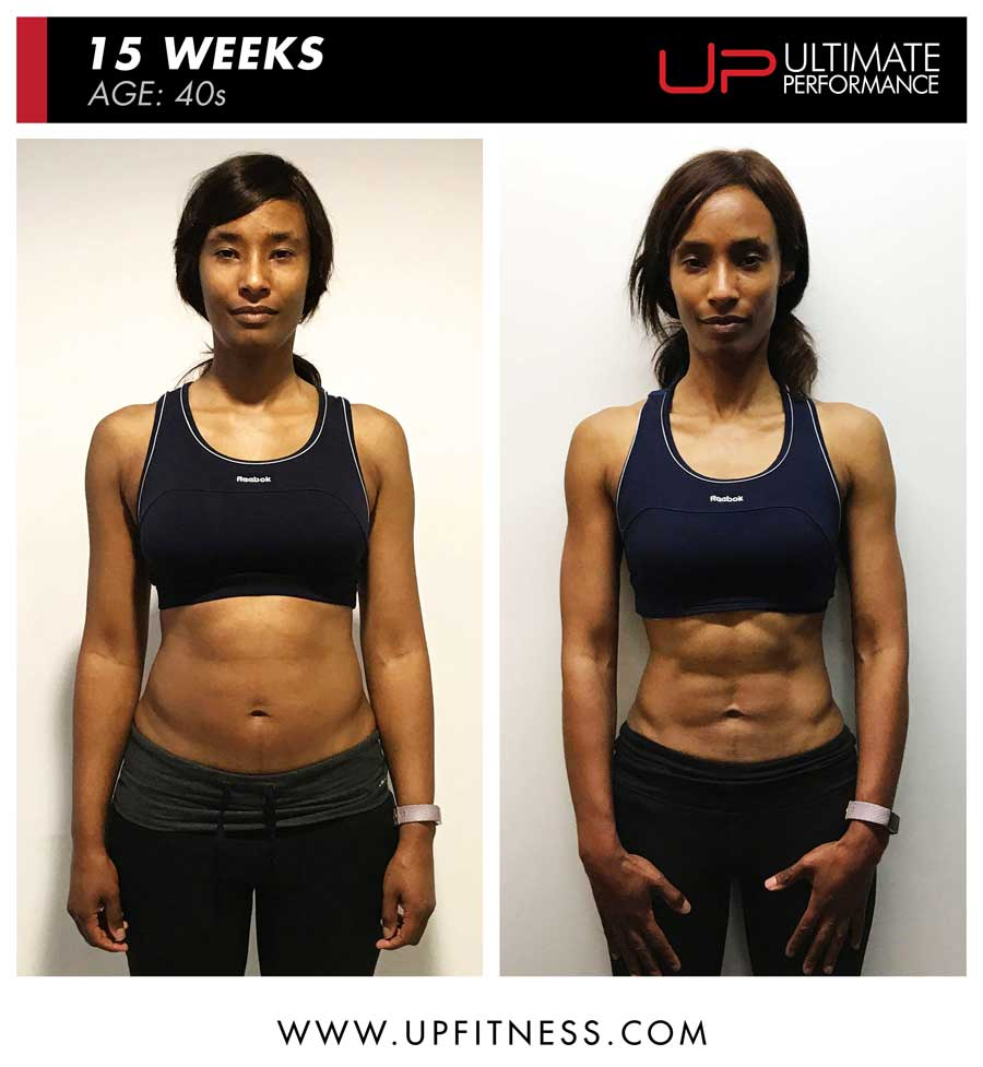 Female 15 week transformation results - front