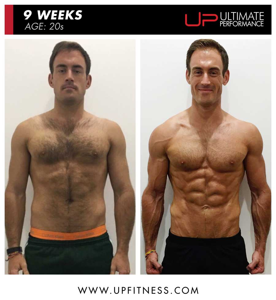 Sheridan 9 week male fat loss front results