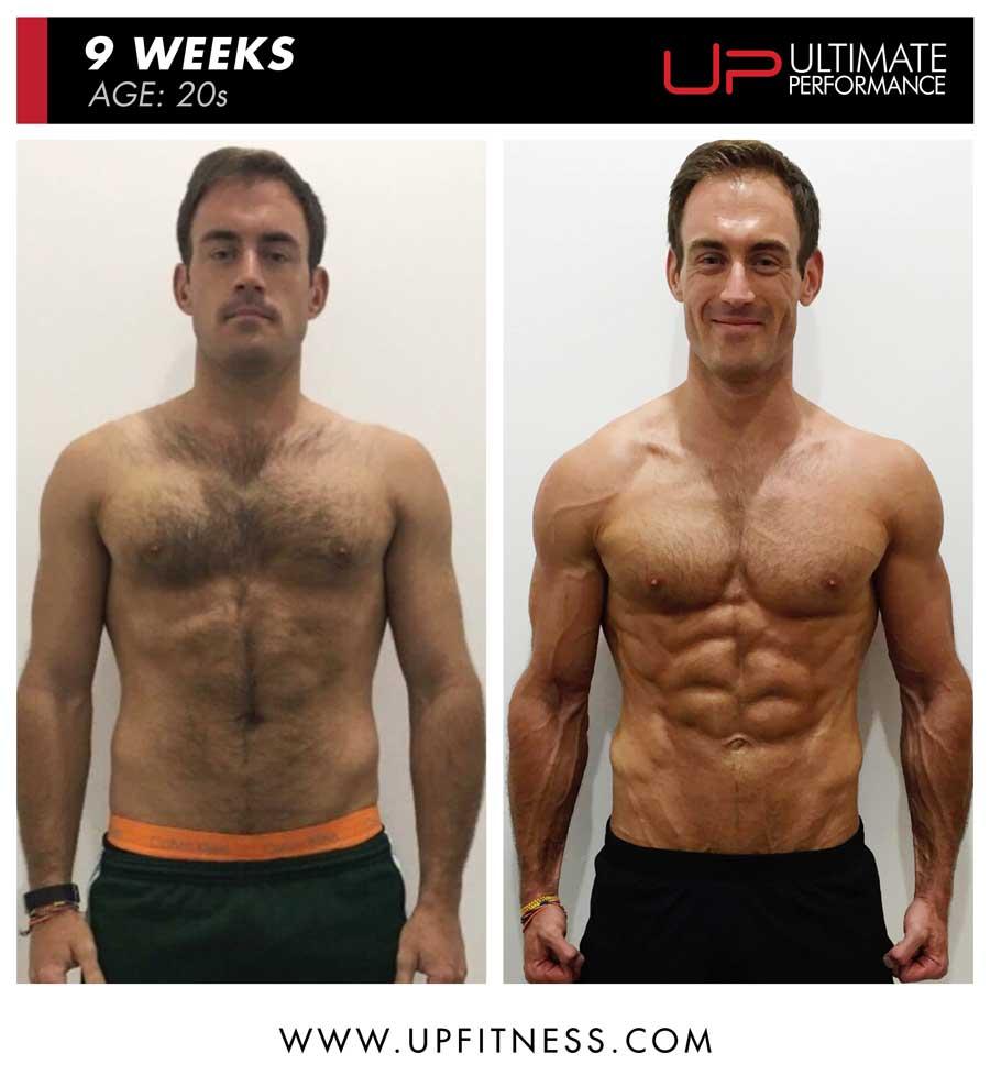 Sheridan 9 week male fat loss front results