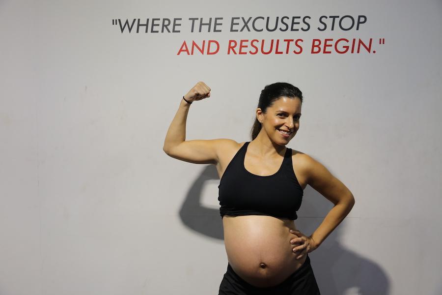 Valerie training whilst pregnant