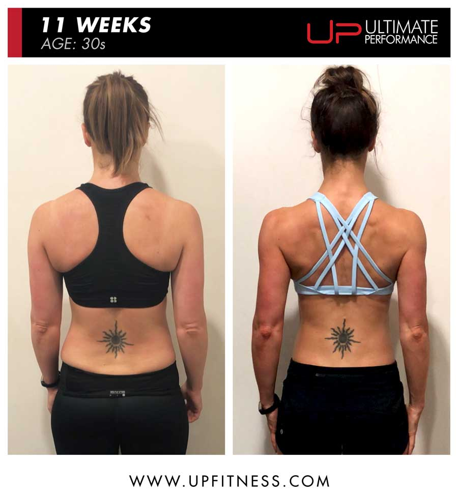 Jennifer - back body transformation results