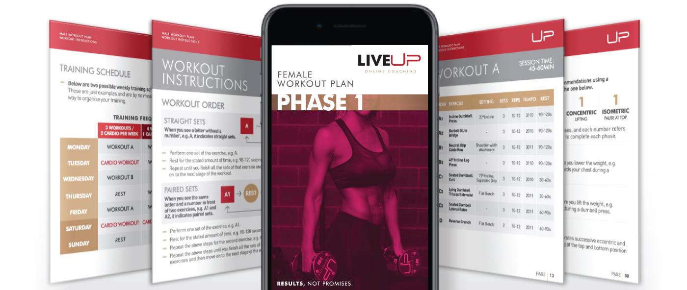 LiveUP bikini body plan render