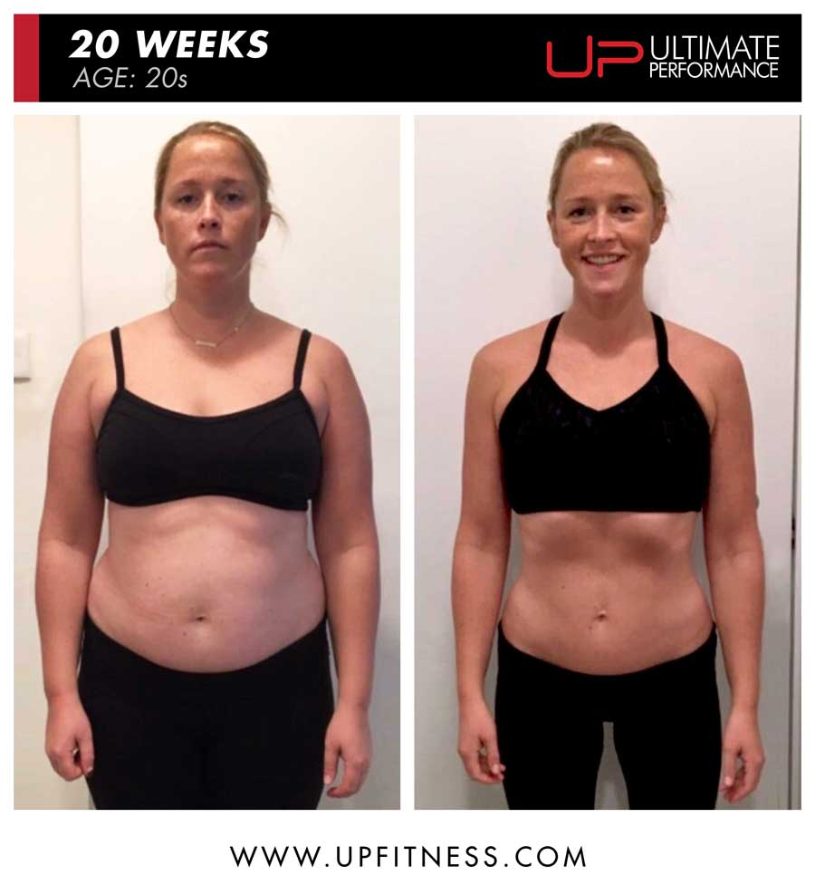 Emmy 20 weeks female fat loss - front view
