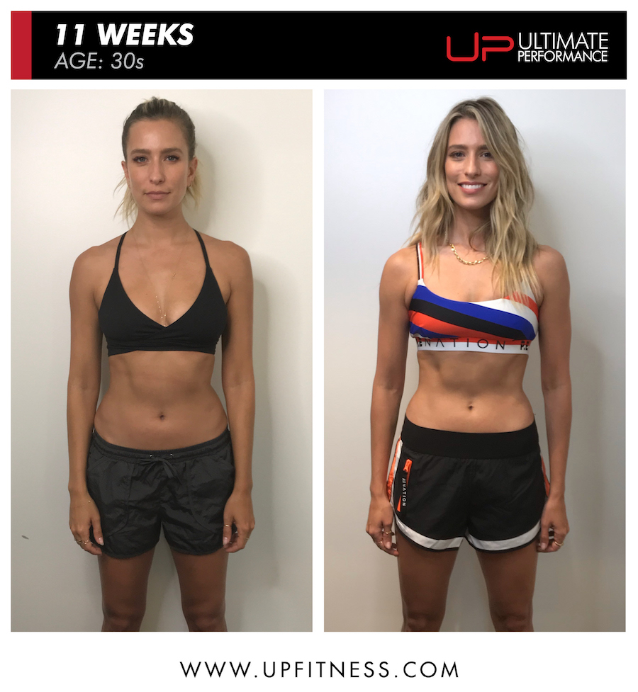 Renee 11 week female fat loss body transformation