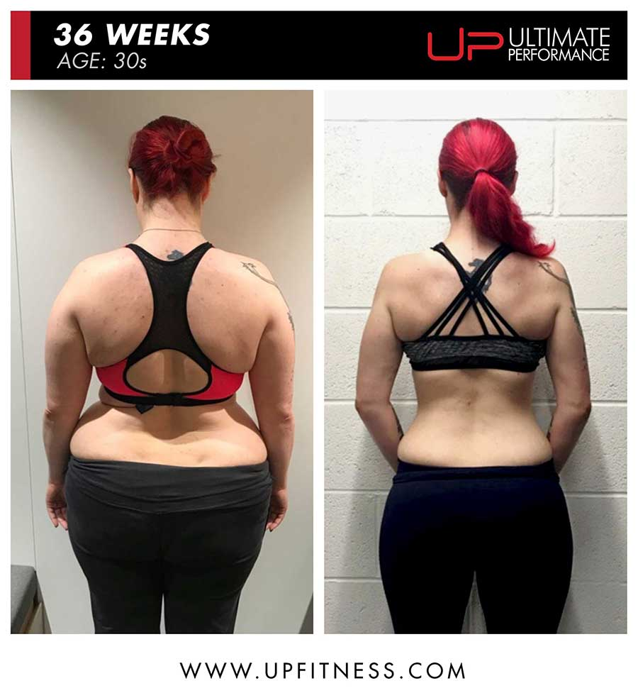 Katherine M 36 week female fat loss - back view