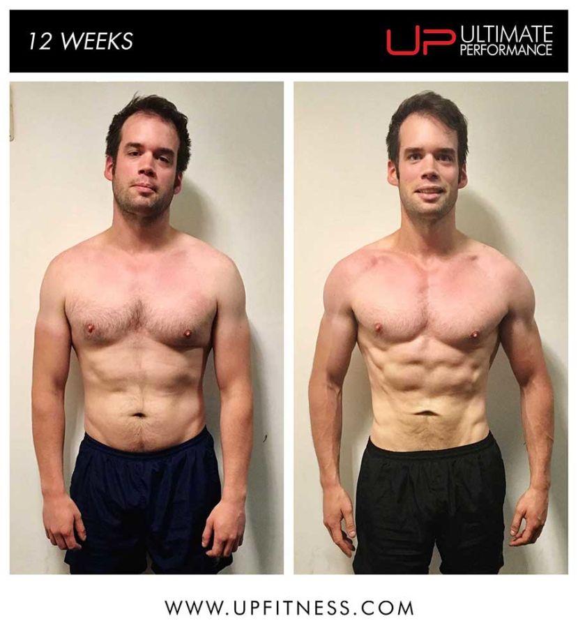 Tim 12 week transformation results - front