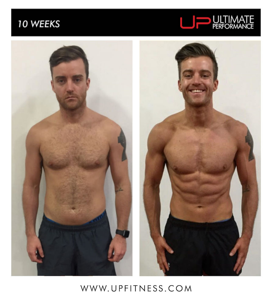 Paul 10 week transformation results - front