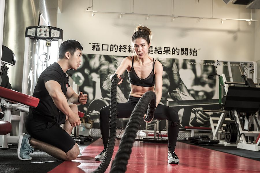 Agnes client of the month - battle ropes
