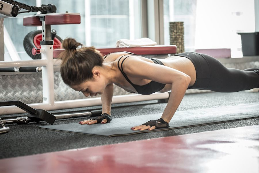 Agnes client of the month - press ups