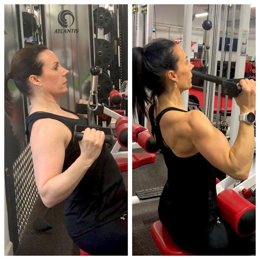 Sarah | Body Transformation | Training at the gym
