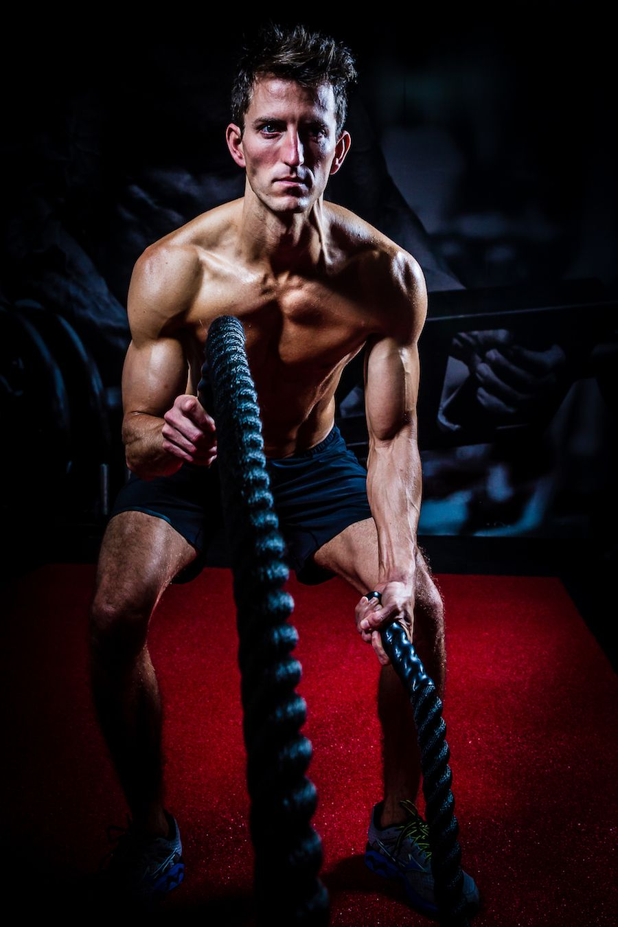 Mark 8 week transformation - battle ropes