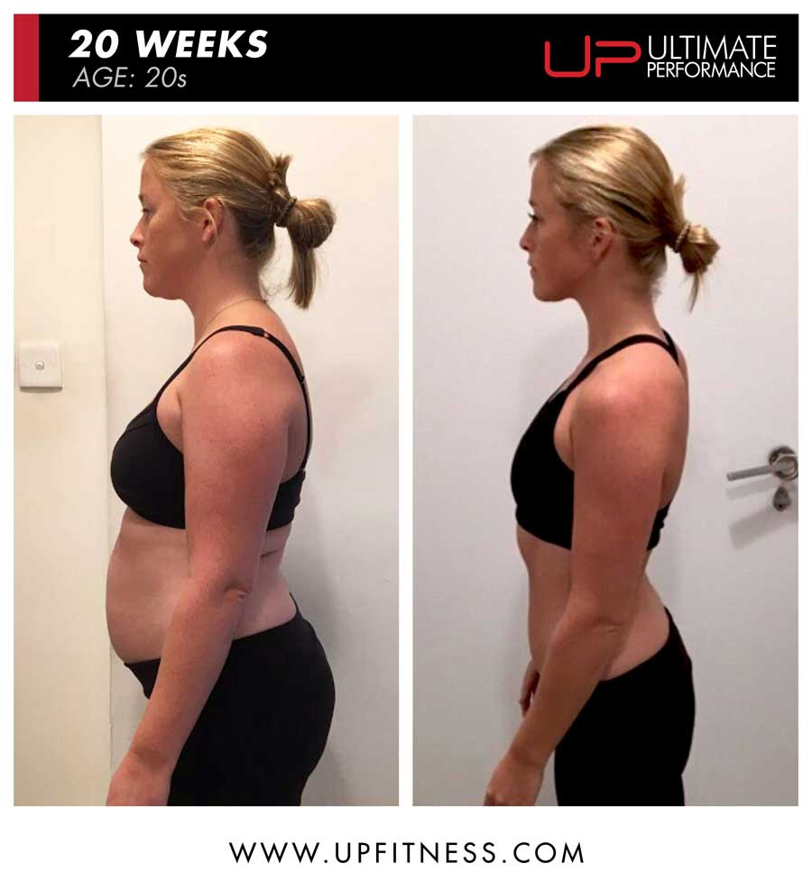 Emmy 20 week female transformation results - side view
