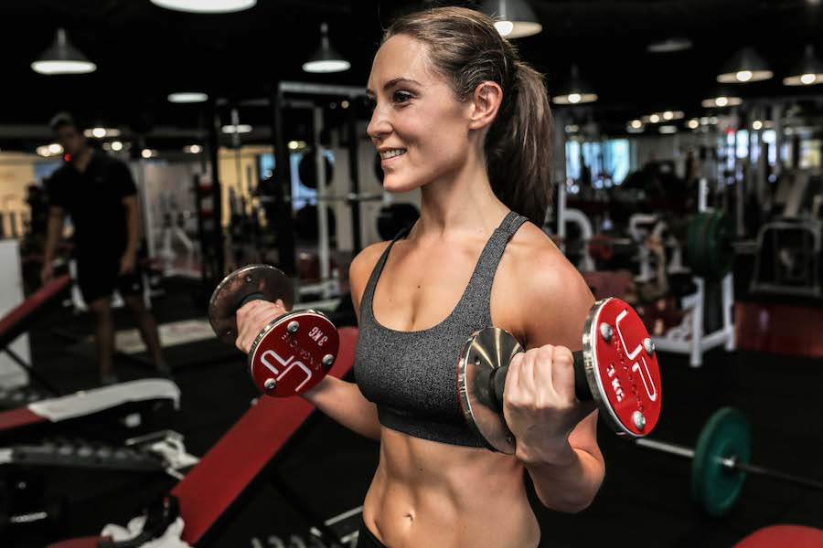 Katie client of the month - bicep curls