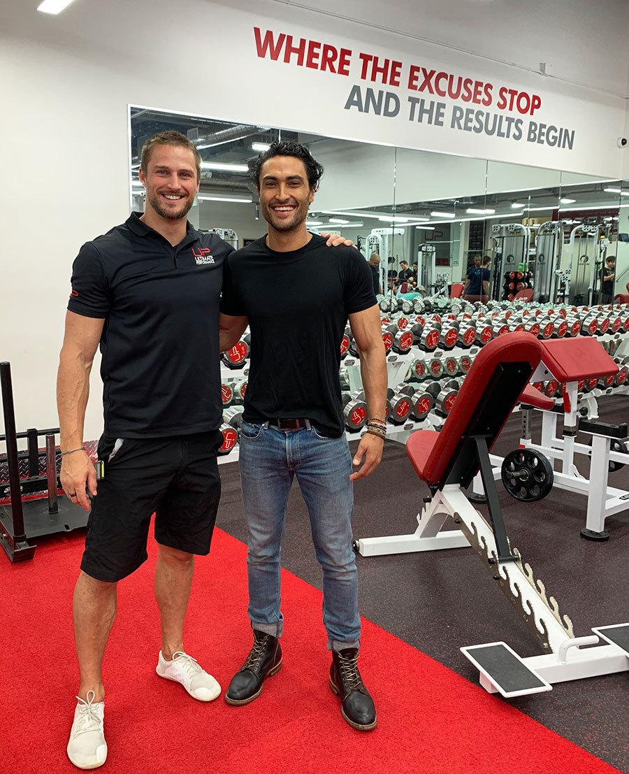 Jonny with his U.P. trainer.