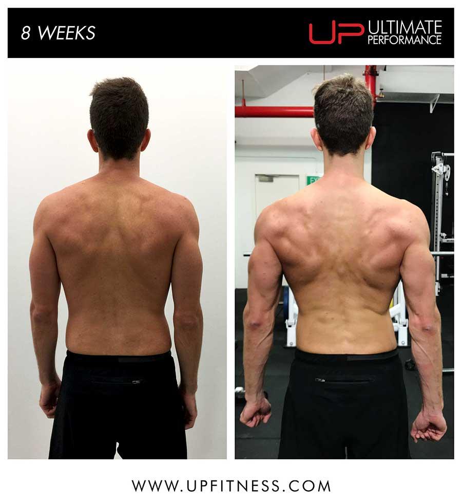 Mark 8 week transformation results - back