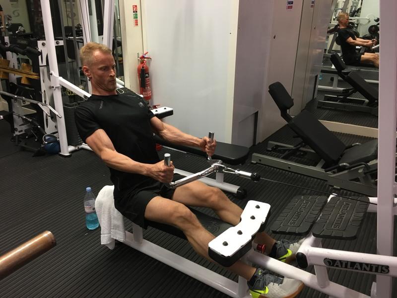 Neil 14 week transformation - back training