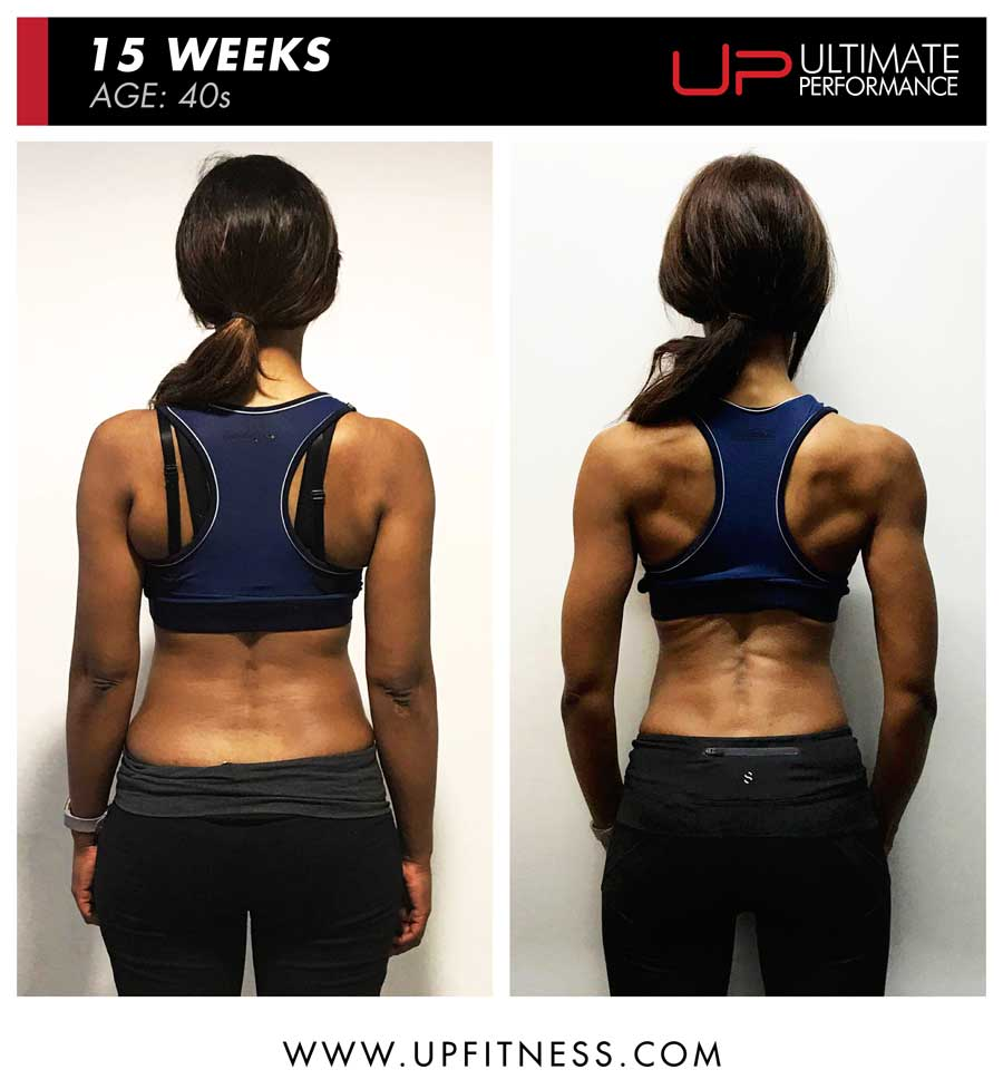 Female 15 week transformation results - back