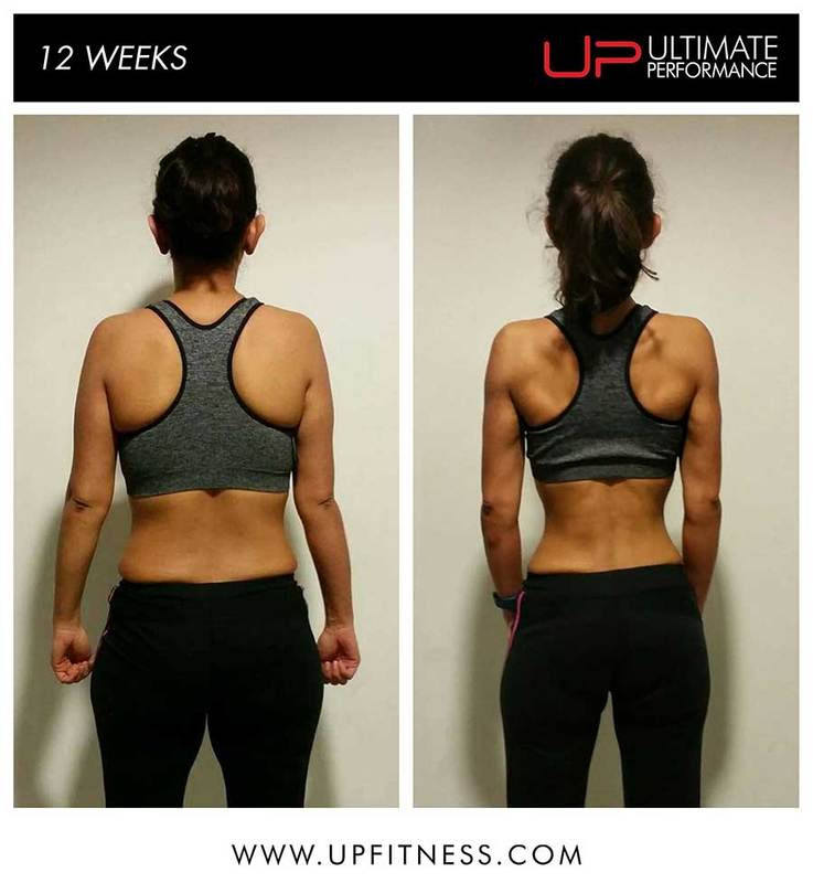 Sandi 12 week before and after - back