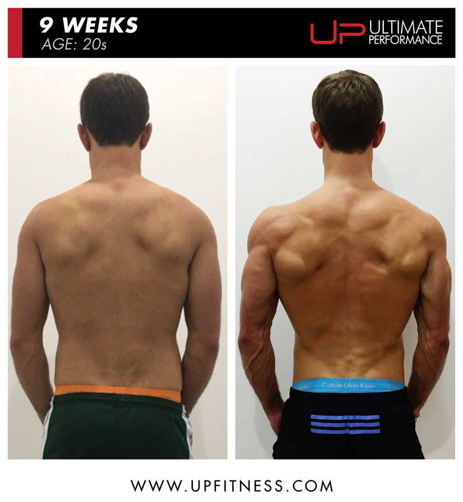 Sheridan 9 week male fat loss back results