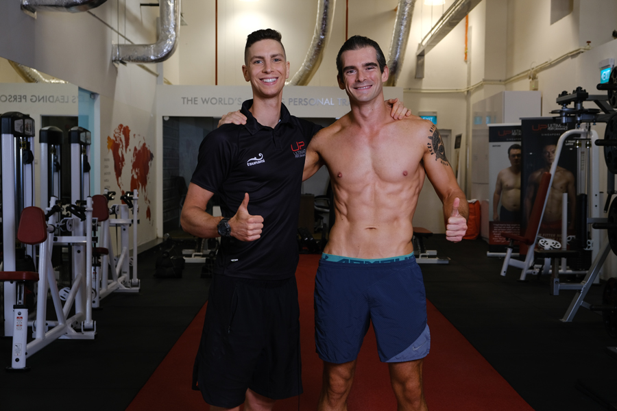 Paul | Body Transformation | With his trainer