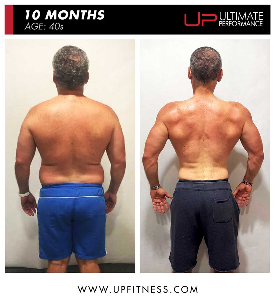 Tamas 10 month fat loss results - back