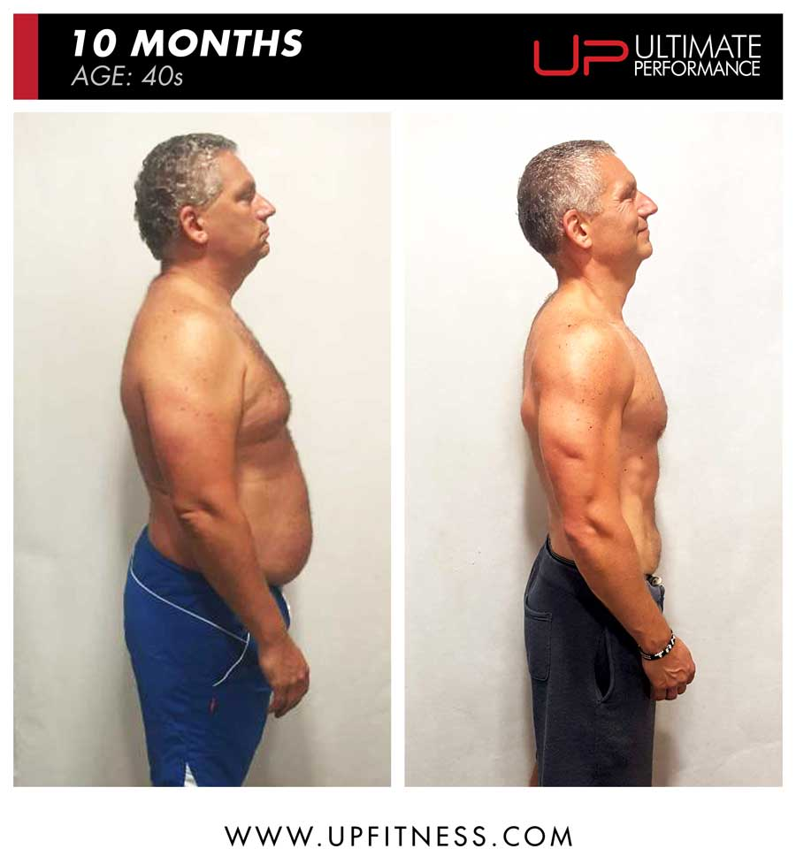 Tamas 10 month fat loss results - side