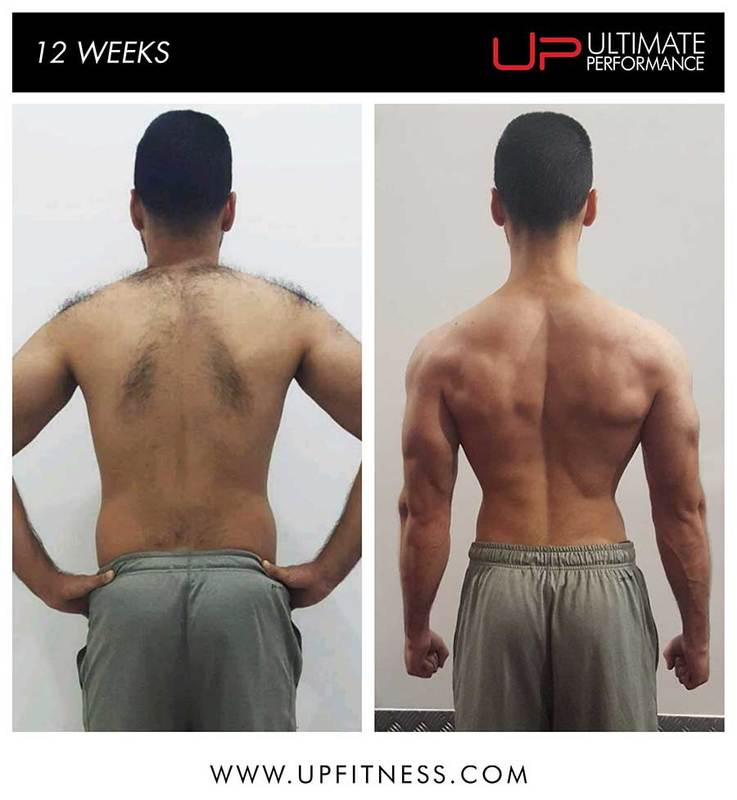 haroon before and after - back