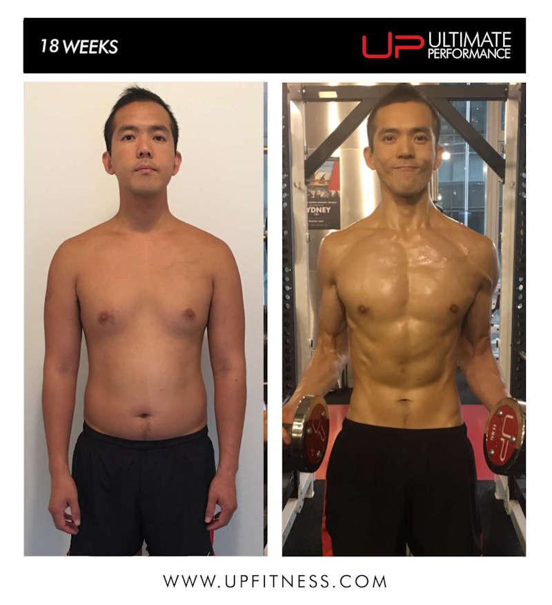 male 18 week transformation