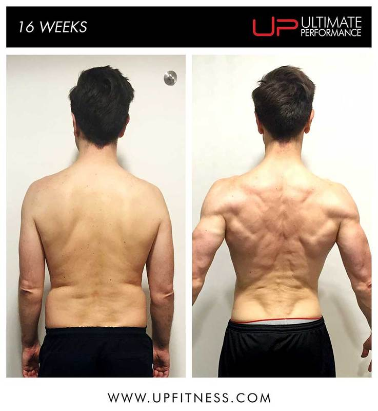 Mikes 16 weeks back transformation