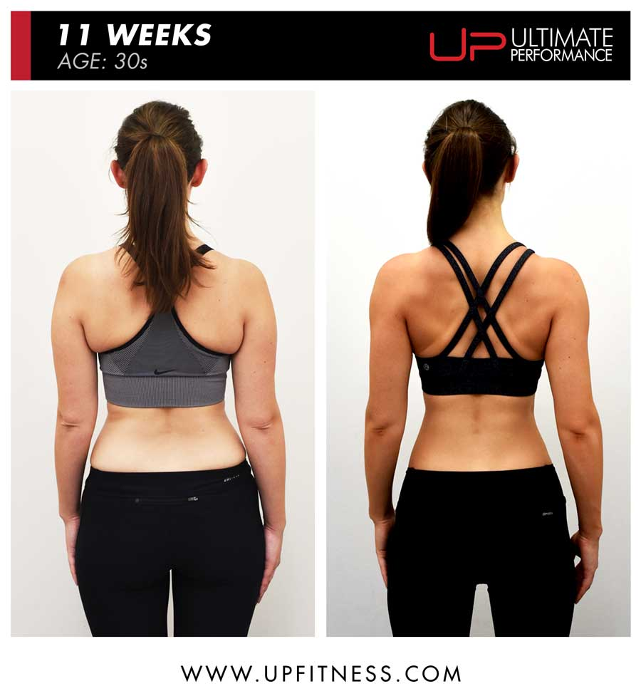 Katie 11 week body transformation results - back