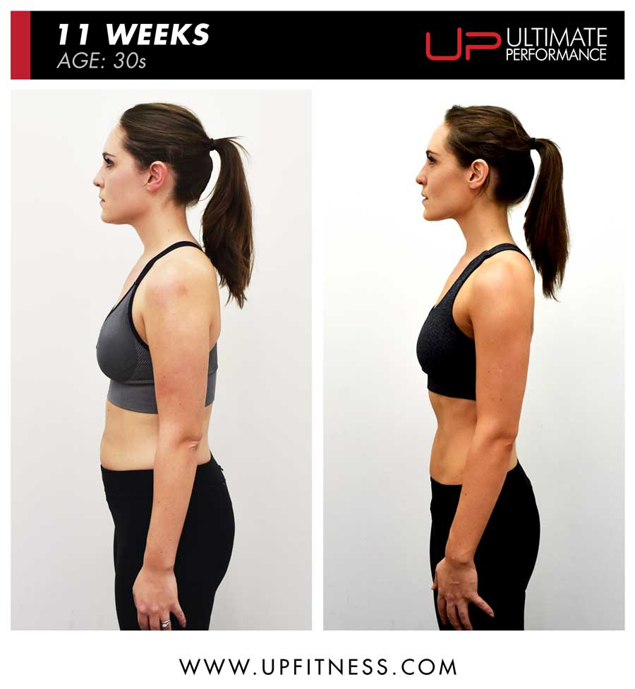 Katie 11 week body transformation results - side