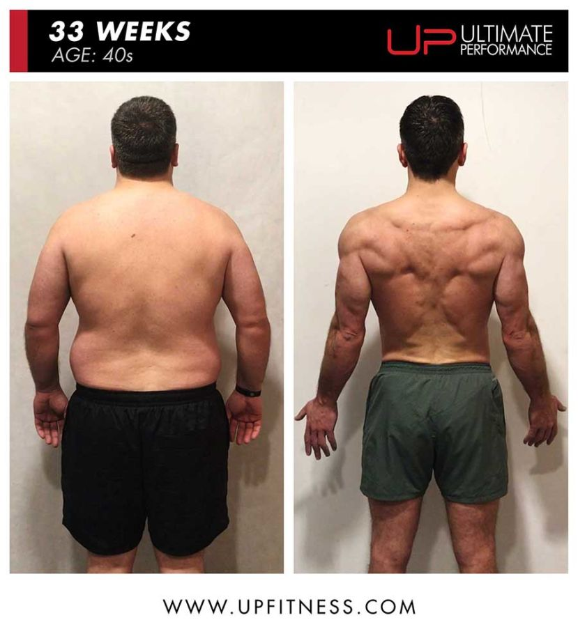 Mike 33 week body transformation - back