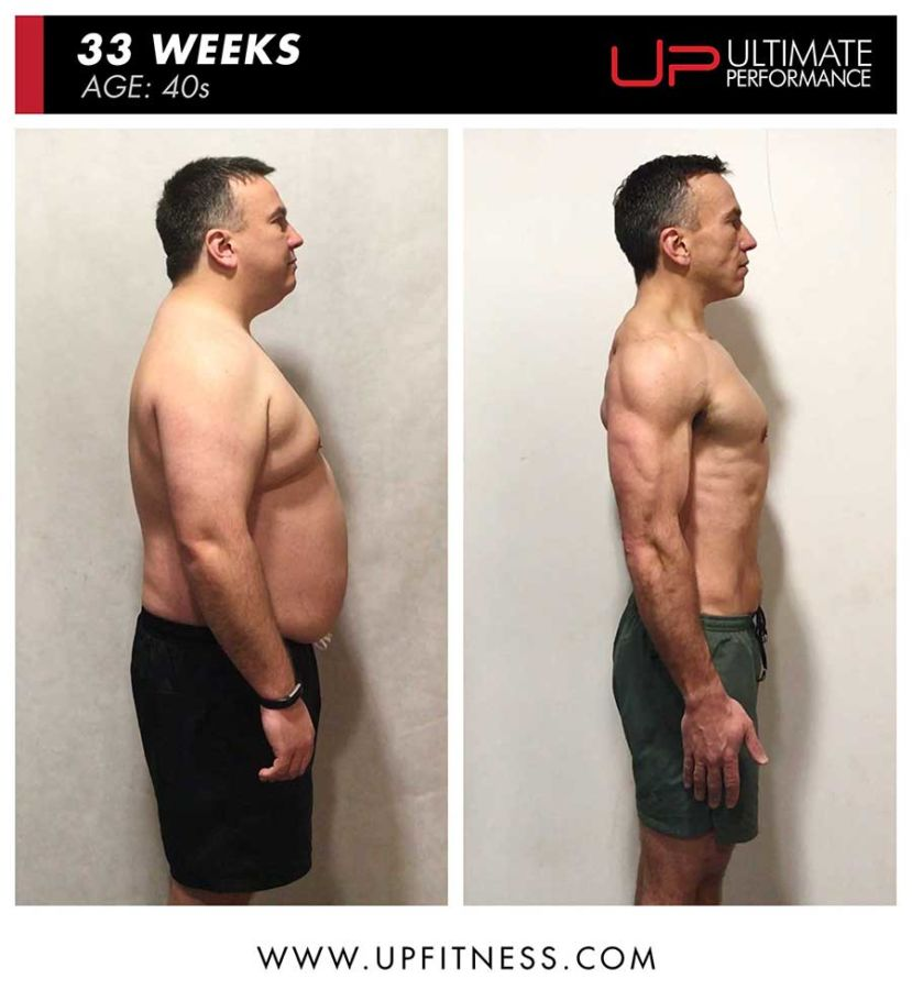Mike 33 week body transformation - side