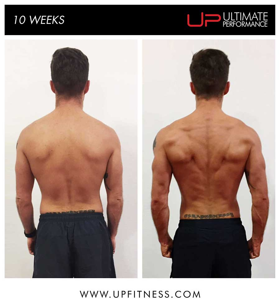 Paul - 10 week transformation results - back