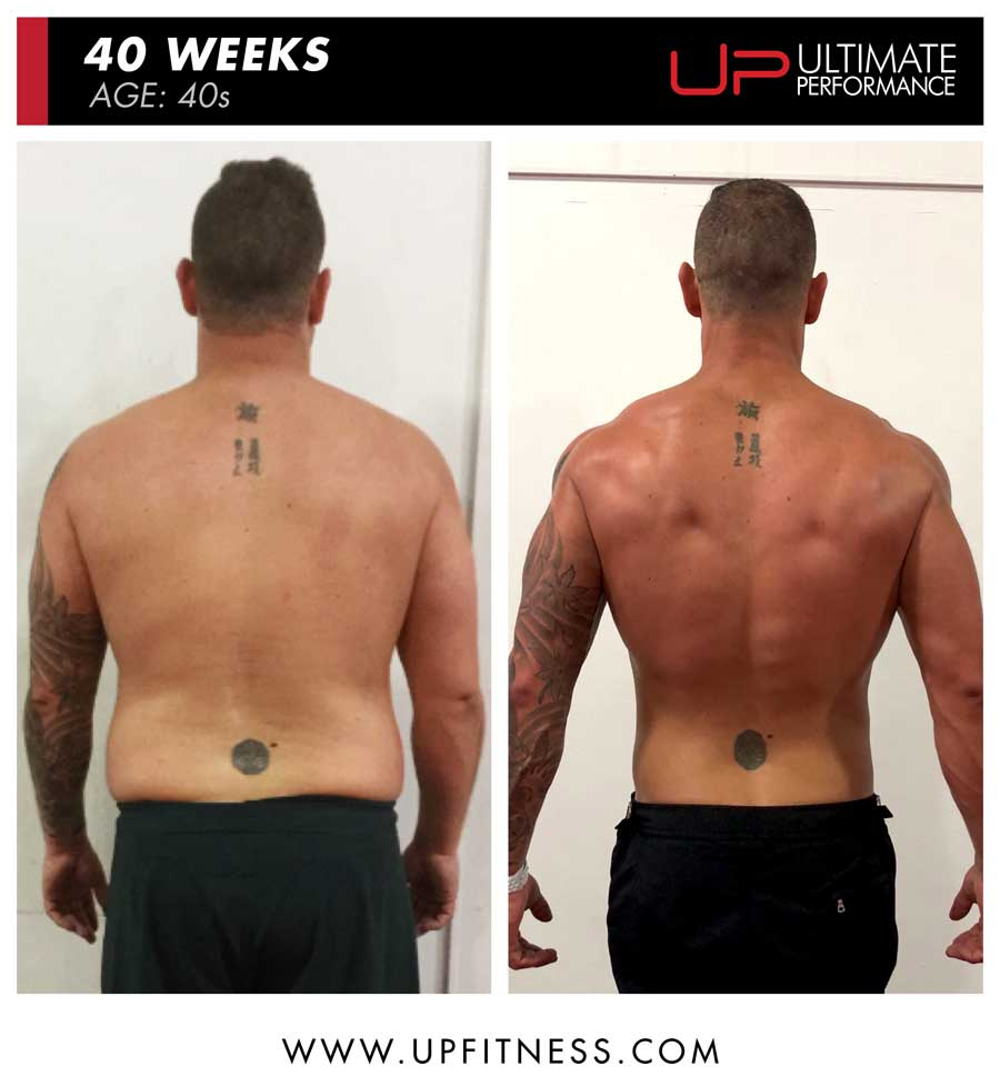 Rob 40 weeks transformation - back